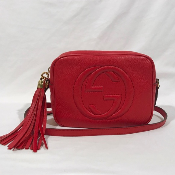 598ddfdfe315 Gucci Bags | 100 Authentic Red Leather Soho Disco Bag | Poshmark